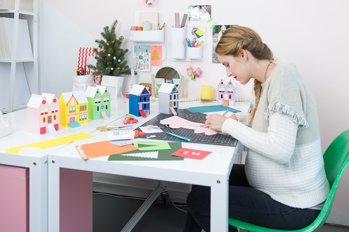 i had the chance to partner with hallmark this year to create a colorful christmas diy inspired by one of their ornaments a mini crayola box - Hallmark Christmas Village