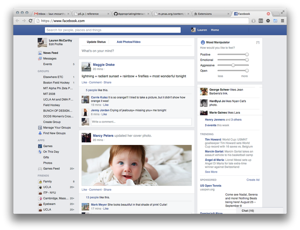 Facebook Mood Manipulator Extension