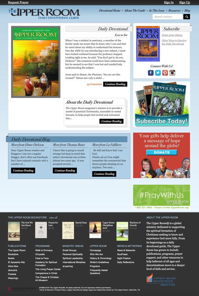 The Upper Room Devotional Website - Jason B Jones