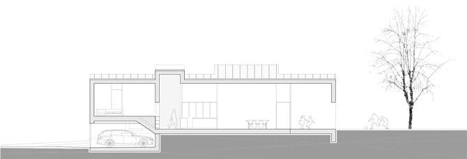 Der Grundriss Gliedert Sich Grundsatzlich In 4 Bereiche Eingangsbereich Zentrale Familienraum Private Schlafbereich Und Das Halboffentliche
